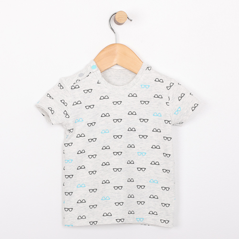 Cotton t-shirt for babies, infants and toddlers. Reversible