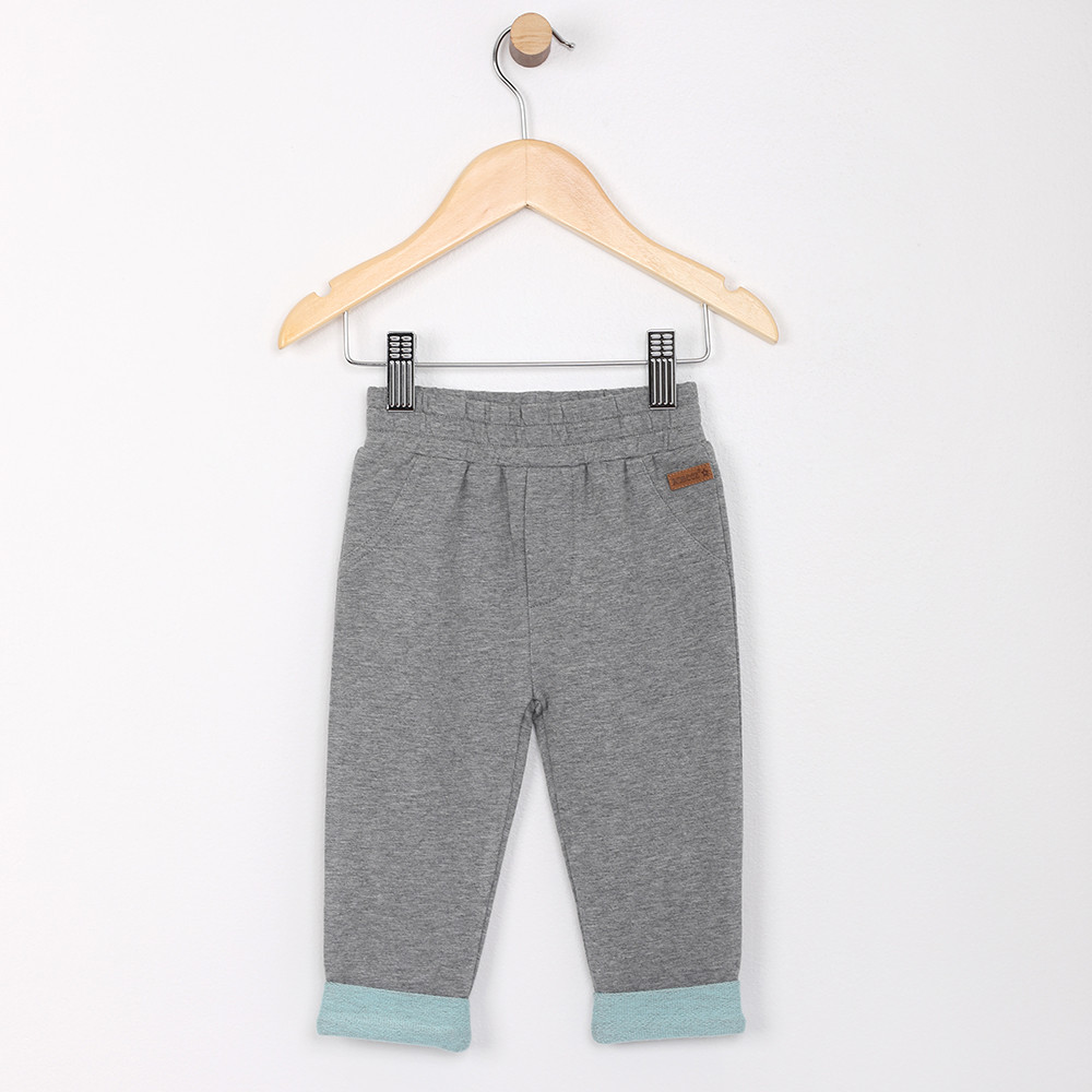 Cotton Grey Pants for Baby Infant or Toddlers sizes 0 - 24 months
