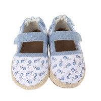 Cotton baby shoes with poppy design. Soft Soles infant shoes perfect for pre-walking, crawling or walking.