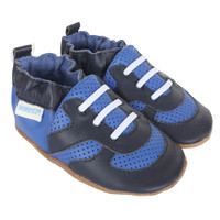 Super Sporty Baby Shoes, Blue, Soft Soles