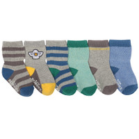 Baby socks with heather cotton.  Stripes and solids. Ages 0 - 24 months