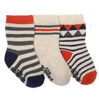 Socks for babies, infants and toddlers with geometric pattern