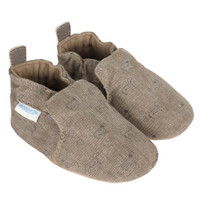 Soft soled baby shoes for boys and girls with puppy dog pattern.  Baby, Infant and Toddlers.