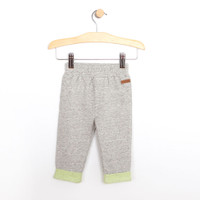Baby pants in grey/brown heather. French Terry Cotton pants.