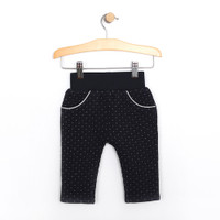Pants for baby girls in quilted navy.