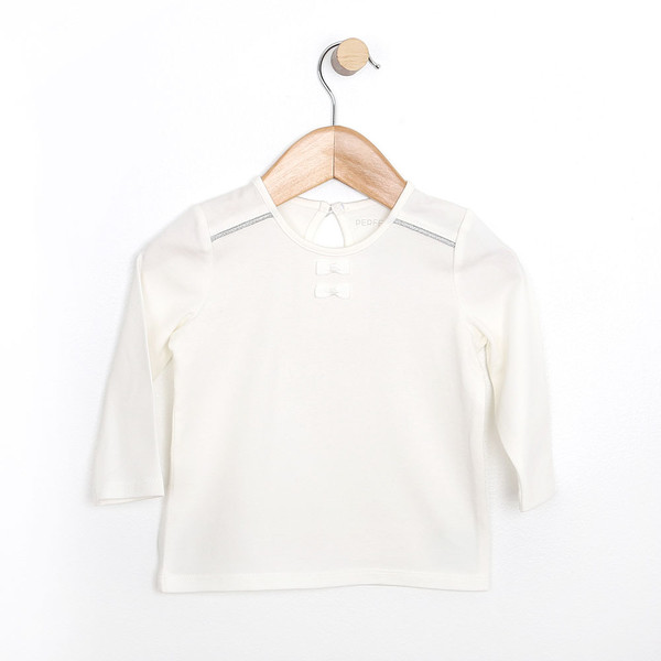 Girls Top/Shirt for babies, infants and toddlers.  White cotton shirt for ages 0 - 24 months.