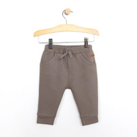 Baby, infant and toddler pants in taupe french terry.  Elastic waistband.