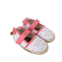 Side view of Bridget Espadrille Baby Shoes, soft soled baby shoes for girls ages 0 - 24 months.