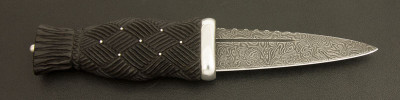 Sgian Dubh in Bog Oak / Sterling Silver / Swedish Damasteel (SGTG21)