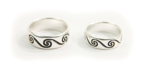 Pair of Sterling Silver Celtic Spiral Rings (CJ212)