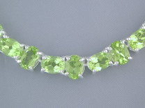 55.50cts Oval Cut Peridot Necklace Sterling Silver Style SB1284