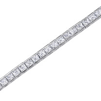 Princess Cut White CZ Gemstone Tennis Bracelet in Sterling Silver Style sb2688