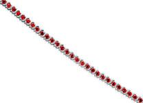 7.00 carats Round Cut Garnet Gemstone Tennis Bracelet in Sterling Silver Style sb2848