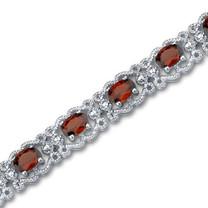 8.50 carats Oval Cut Garnet Gemstone Bracelet in Sterling Silver Style SB2936
