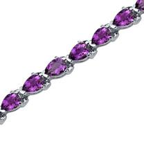 7.75 Carats Pear Shape Amethyst Bracelet in Sterling Silver Style SB3550