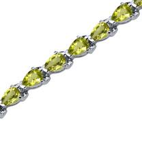 9.50 Carats Pear Shape Peridot Bracelet in Sterling Silver Style SB3554