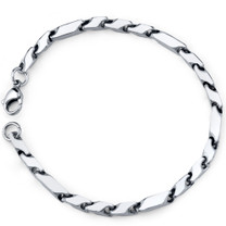 Exclusive Style: Mens Stainless Steel Fancy 3D Arrow Link Bracelet Style SB3850
