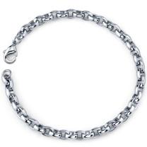 Sleek and Trendy: Mens Stainless Steel Belcher Link Bracelet Style SB3884