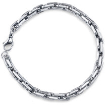 Bold and Handsome: Mens Stainless Steel Modern Link Chain Bracelet Style SB3906