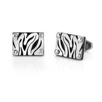 Stainless Steel Zebra Pattern Cufflinks Style SC1014