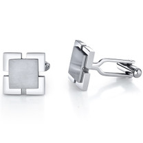 Ultimate Personality: Stainless Steel Dual-Tone Square Cufflinks Style SC1030