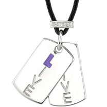 Stainless Steel High Polished Finish Pendant Engraved with Live and accented with CZ Style SN7992