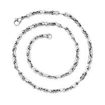 Elegant Figure 8 Mens Stainless Steel Necklace Style SN8470