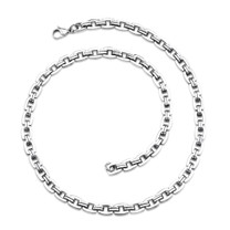 Bold and Heavy Mens Stainless Steel Necklace Style SN8476