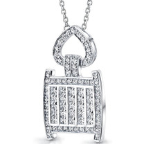 Inspired Extravagance: Sterling Silver Pendant With CZ Style SP8834
