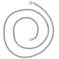 2mm Stainless Steel Rolo Chain Necklace available in 16, 18, 20 and 22 inch length Style SN10566