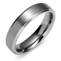 Classic 6mm Comfort Fit Mens Tungsten Carbide Ring Size 12 Style SR9368