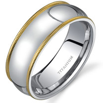 Classic Comfort fit 8 mm Mens Titanium Available Size 8 to 13 Style SR9636