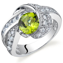 Mystic Divinity 1.25 carats Peridot Sterling Silver Ring in Sizes 5 to 9 Style SR9766