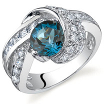 Mystic Divinity 1.50 carats London Blue Topaz Sterling Silver Ring in Sizes 5 to 9 Style SR9768