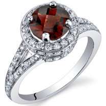 Majestic Sensation 1.50 Carats Garnet Sterling Silver Ring in Sizes 5 to 9 Style SR9870