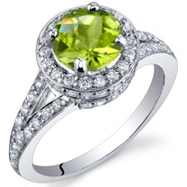 Majestic Sensation 1.25 Carats Peridot Sterling Silver Ring in Sizes 5 to 9 Style SR9872