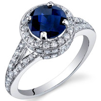 Majestic Sensation 1.75 Carats Blue Sapphire Sterling Silver Ring in Sizes 5 to 9 Style SR9882