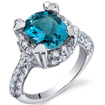 Royal Splendor 3.00 Carats London Blue Topaz Sterling Silver Ring in Sizes 5 to 9 Style SR9980