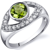 Captivating Curves 0.75 carats Peridot Sterling Silver Ring in Sizes 5 to 9 Style SR10194