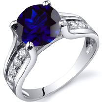 Solitaire Style 2.75 carats Blue Sapphire Sterling Silver Ring in Sizes 5 to 9 Style SR10238
