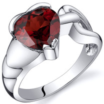 Love Knot Style 2.00 carats Garnet Sterling Silver Ring in Sizes 5 to 9 Style SR10582