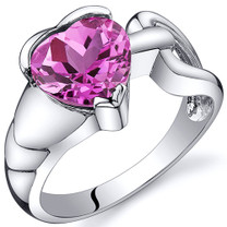 Love Knot Style 2.50 carats Pink Sapphire Sterling Silver Ring in Sizes 5 to 9 Style SR10594