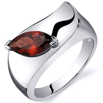 Musuem Style Marquise Cut 1.25 carats Garnet Sterling Silver Ring in Sizes 5 to 9 Style SR10600
