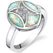 Red Fire Opal Sterling Silver Ring