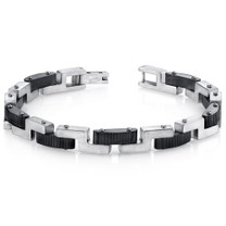 Mens Z Link Brushed Finish Stainless Steel Bracelet Style SB4274