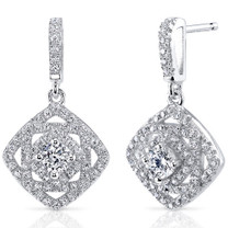 Sterling Silver Round White Cubic Zirconia Earrings SE8310