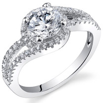 Sterling Silver Round White Cubic Zirconia Ring SR10982