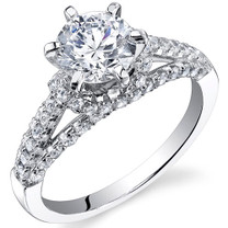 Sterling Silver Classic Round White Cubic Zirconia Ring SR11000