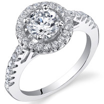 Sterling Silver Round White Cubic Zirconia Ring SR11004