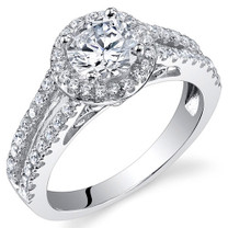 Sterling Silver Round White Cubic Zirconia Ring SR11008